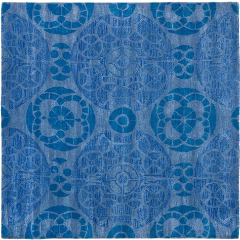 7 foot square rug safavieh wyndham blue 7 ft x 7 ft square area rug wyd376e 7sq the home depot