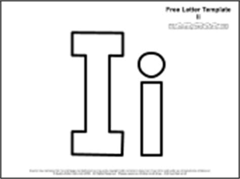 letter i template for preschool educational printables alphabet templates