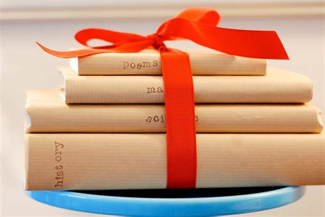 themes for book covers kraft paper book covers orange grosgrain ribbon school
