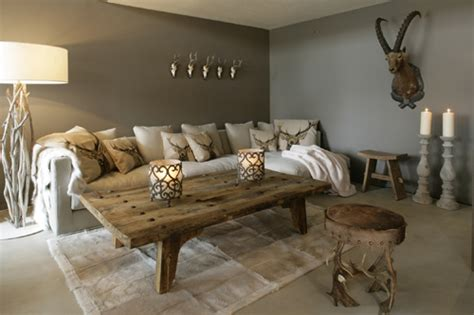 Wall Decoration Ideas For Living Room by Wintertrend 2011 Chalet Chic Wohnblog Ch