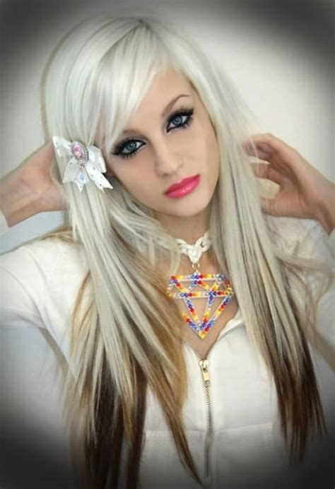emo hairstyles for long blonde hair 68 sexy expressive emo hairstyles for every occasion