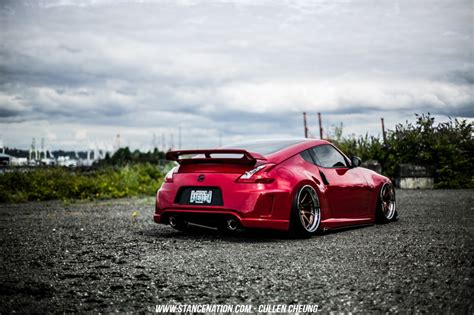 bagged nissan car flawless execution joey gallardo s nissan 370z