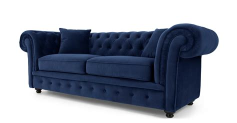 Branagh 2 seater chesterfield sofa electric blue velvet made com