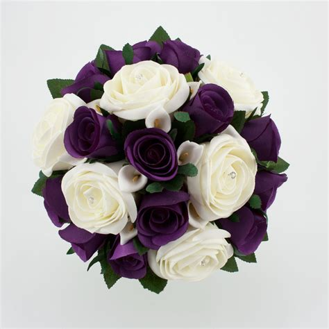 Wedding Flowers Purple by Firenze Flora Beautiful Purple Wedding Bouquet