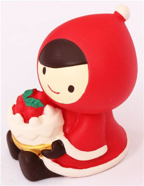 this extremely cute little red riding hood umbrella mug little red riding hood with cake christmas figurine japan