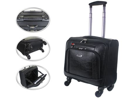 trolley cabin bag wheeled laptop briefcase business office bag trolley
