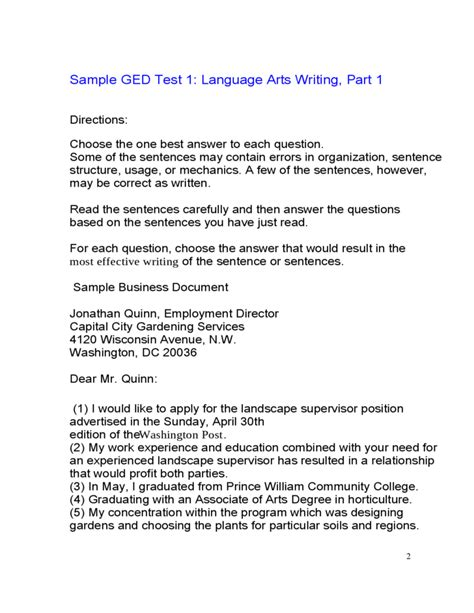 cover letter for ged help writing a essay for ged