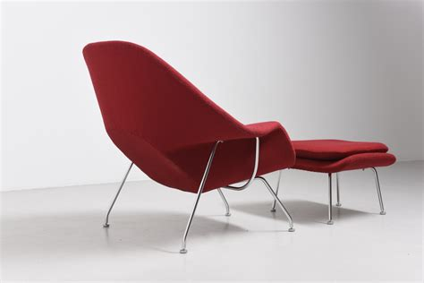 Knoll Ottoman by Womb Chair With Ottoman Eero Saarinen Modestfurniture
