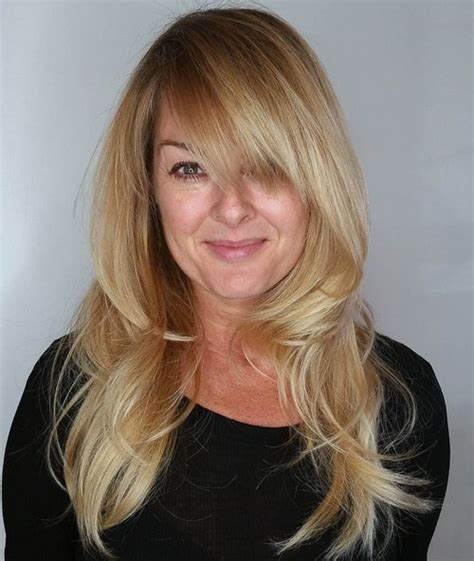 long layers with bangs keratin style acconciature lunghe e scalate con la frangia trend capelli