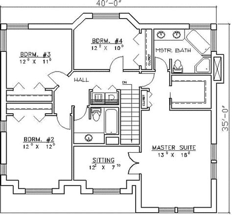 four bedroom house floor plans 4 bedroom house plans page 32