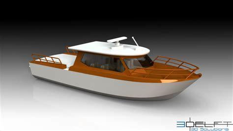 solidworks tutorial boat passenger boat 3d cad model grabcad