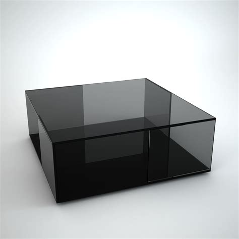 Black And Glass Coffee Tables Tifino Square Grey Tint Glass Coffee Table By Klarity Klarity Glass Furniture