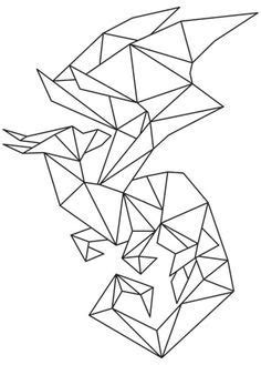 tattoo geometric dragon geometric dragon graphic pinterest dragon and galleries
