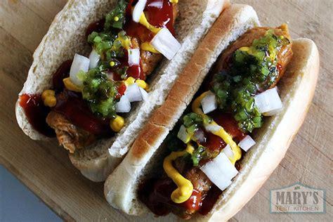 vegan tattoo eating hot dog vegan hot dogs 2 paprika seitan sausages mary s test