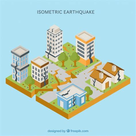earthquake vector isometric vectors photos and psd files free download