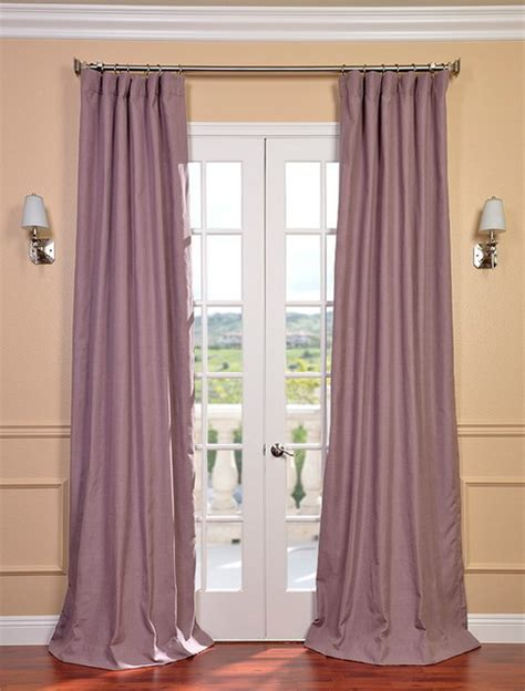 Mauve textured linen blend curtain contemporary curtains san francisco by half price drapes