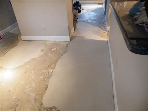 uneven bathroom floor unlevel floor fix flooring contractor talk
