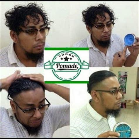 Minyak Rambut Pomade Malaysia cara mudah memakai minyak rambut pomade yang betul