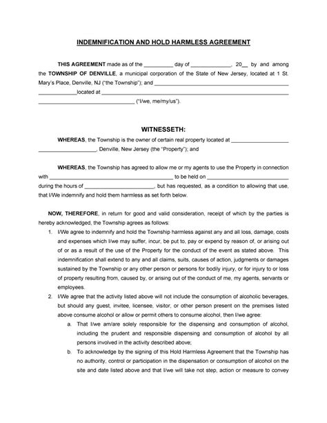 indemnity clause template letter of indemnity clause docoments ojazlink