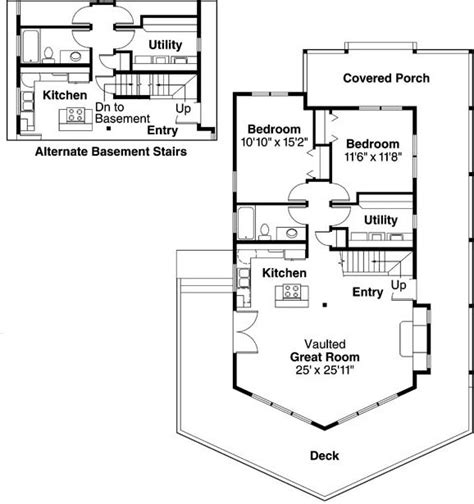 A Frame Floor Plans by 3 Bedroom 2 Bath A Frame House Plan Alp 01sb