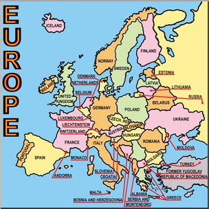 a labeled map of europe clip europe map color labeled i abcteach abcteach