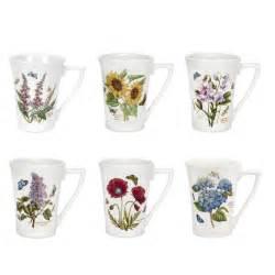 portmeirion botanic garden mandarin shape mugs set of 6