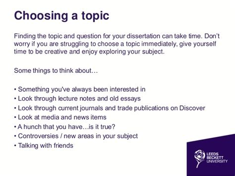 picking a dissertation topic dissertation research skills