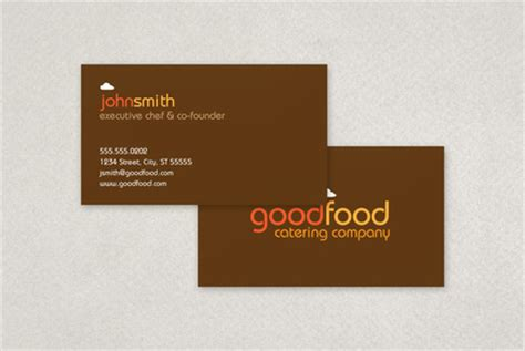catering visiting card templates 9 best images of wording for catering business cards