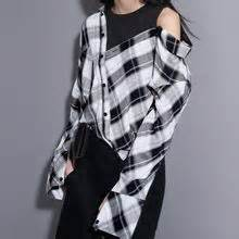 Mock Two Plaid Blouse sonne yesstyle