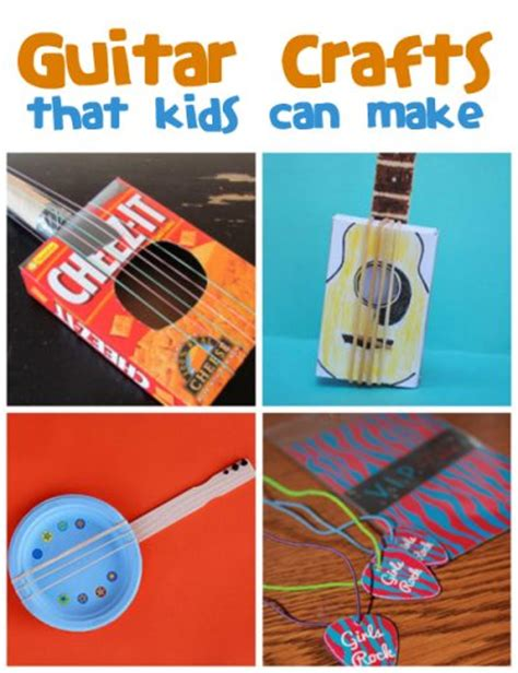 How To Make A Paper Guitar That Works - guitar crafts for family crafts