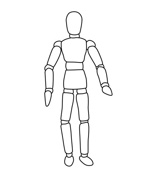 mannequin design template human outline printable cliparts co