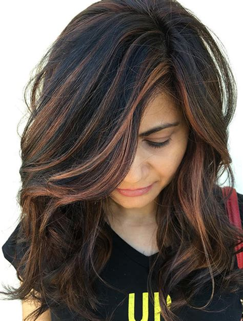 indian skin hair color copper highlights on black hair www pixshark com