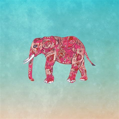 girly elephant wallpaper whimsical colorful elephant tribal floral paisley art
