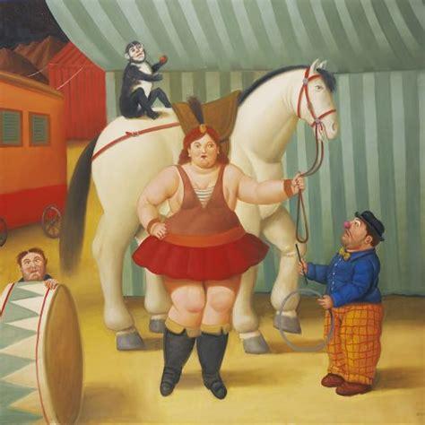cuadro botero cuadro de botero gente del circo cuadrosguapos