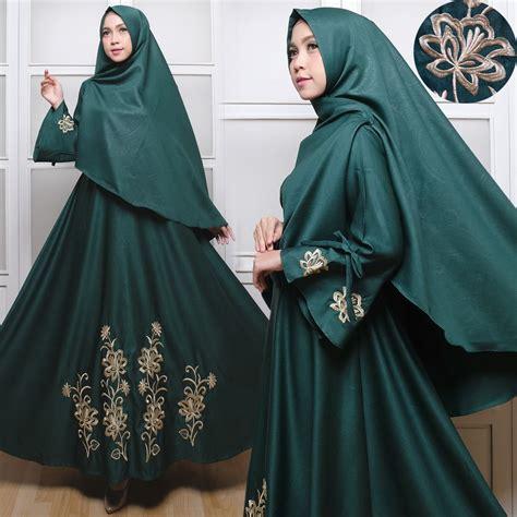 Gamis Busana Muslim Wanita Swi 806 gamis syari baloteli bordir c030 baju muslim polos