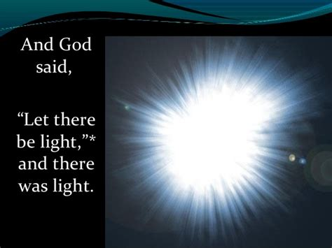 god said let there be light genesis digsite 1