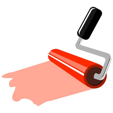 Painting Roller by Vector For Free Use Painting Roller