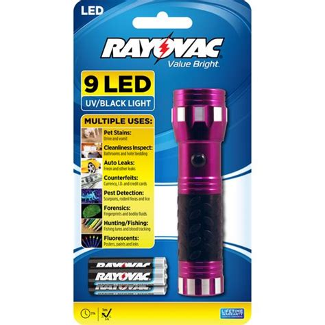 Black Light L Walmart by Rayovac Value Bright 9 Led Uv Flashlight Walmart