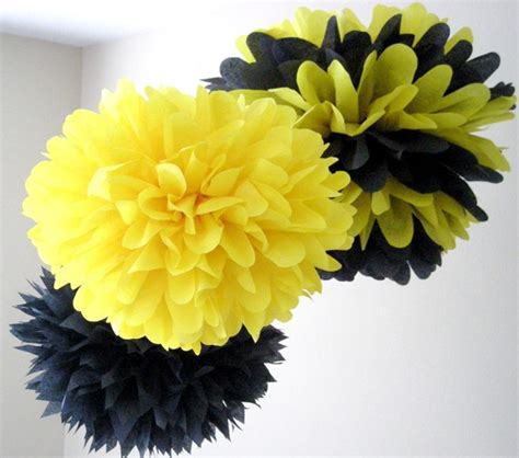 bumble decorations bumble bee 3 tissue paper poms bumble bee birthday