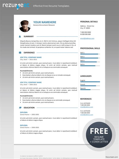 modern resume template free 2015 gastown2 free professional resume template