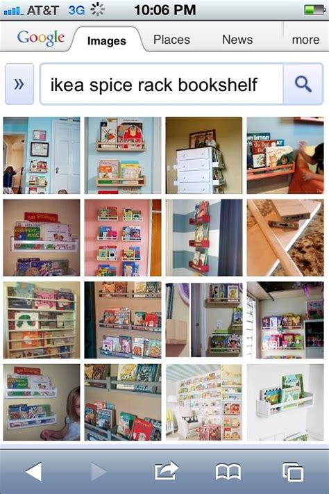 ikea spice racks turned bookshelf it playroom