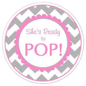 Ready To Pop Template by Baby Shower Ready To Pop Labels Gray Chevron By