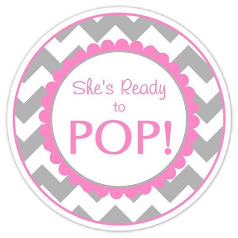ready to pop template free baby shower ready to pop labels gray chevron by