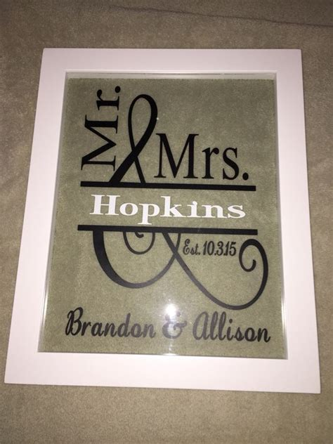 Vinyl Wedding Gift Ideas by Vinyl Wedding Gift Floating Frame My Completed Cricut