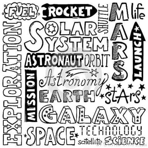how to draw doodle words doodles space words stock images image