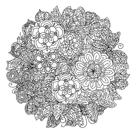 coloring pages for adult in zenart style antistress coloring page uncoloured flowers and butterfly for adult coloring book