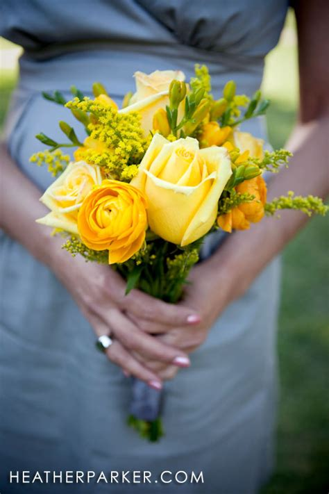 Bridesmaid Bouquet Yellow by Yellow Wedding Inspiration Chicago Wedding Photographer