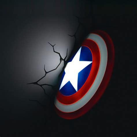 3d wall light captain america captain america 3d wall nightlight