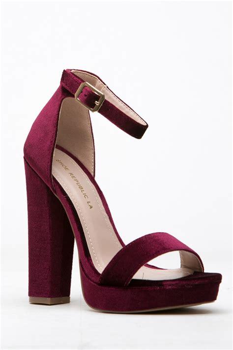 wine colored heels wine velvet platform ankle heels cicihot heel