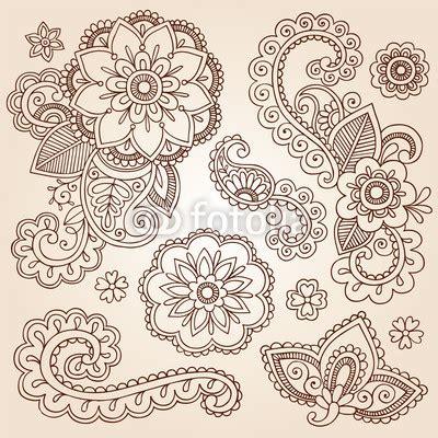 henna tattoo erfurt fototapete henna paisley mandala doodle vector